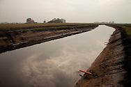 Verbreding watergangen nabij Echten - Middenweg -  Veenpolder van Echten