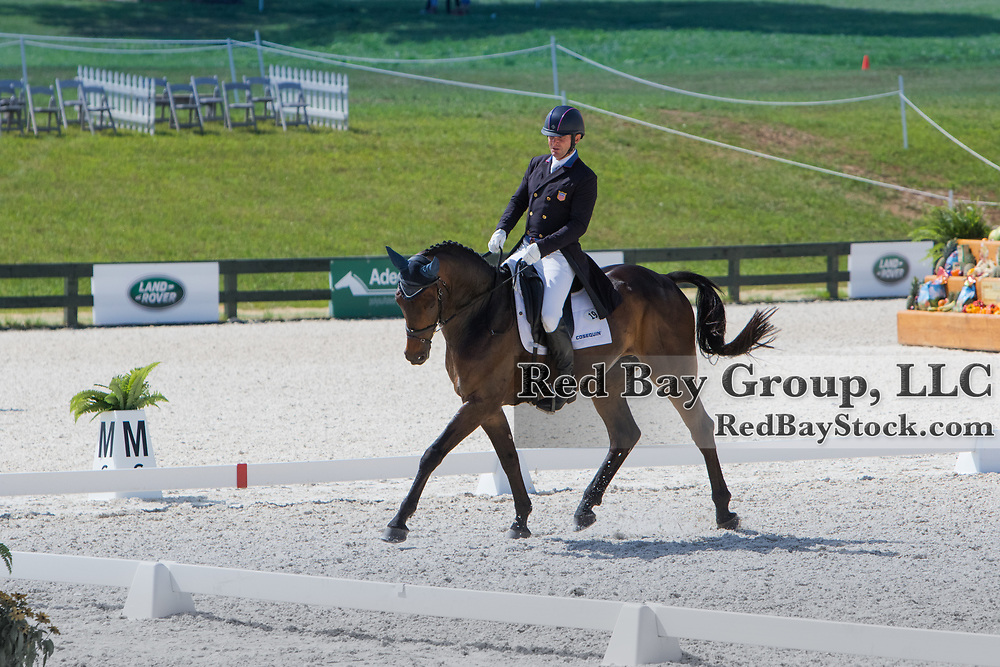 Phillip Dutton riding Fernhill Cubalawn competes in the Dressage phase at the 2016 Land Rover Great Meadow International on Saturday, July 9, 2016, at the Great Meadow Foundation in The Plains, VA.