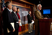 WASHINGTON, DC -  FEBRUARY 2: Senate Minority Whip Jon Kyl (R-AZ), Senator John McCain (R-AZ), Senator Kelly Ayotte, (R-NH) and Senator Lindsey Graham (R-SC) look on as Senator John Cornyn, (R-TX) speaks during a news conference on Capitol Hill February 2, 2012 in Washington, DC to discuss legislation to replace defense spending sequestration. Senate Republicans propose to eliminate part of the painful budget cuts required after the super committee failed to come to an agreement in November. (Photo by Pete Marovich/Getty Images)