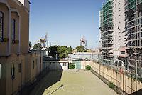 PALERMO, 29 LUGLIO 2015: Il campo di calcio della Parrocchia di Santa Lucia Borgovecchio, a Palermo il 29 luglio 2015.
