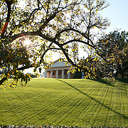 Arlington National Cemetery, in Arlington County, Virginia, is directly across the Potomac River and the Lincoln Memorial. U.S. war casualties, and deceased veterans, of the nation's conflicts beginning with the American Civil War, are interred in this cemetery.   Arlington House, which had been the estate of the family of Confederate general Robert E. Lee's wife Mary Anna Custis Lee, a great-granddaughter of Martha Washington.<br />