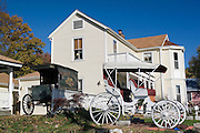 Missouri MO USA, Old buggies in Kimmswick, MO. October 2006