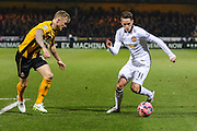 Manchester United's Adnan Janazaj on the ball during the The FA Cup match between Cambridge United and Manchester United at the R Costings Abbey Stadium, Cambridge, England on 23 January 2015. Photo by Phil Duncan.