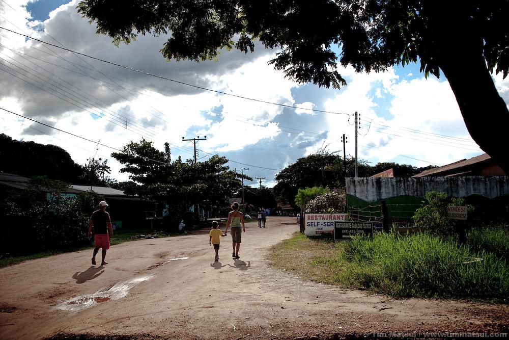 Dirt roads in rural Sao Jorge on the border of the Chapadas dos Veadeiros.