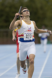 Smith, Kyle competing in the 4x400m relay at the 2007 OTFA Junior-Senior Championships in Ottawa.