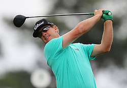 April 7, 2018 - Augusta, GA, USA - Charley Hoffman hits from the 1st tee during the third round of the Masters Tournament on Saturday, April 7, 2018, at Augusta National Golf Club in Augusta, Ga. (Credit Image: © Curtis Compton/TNS via ZUMA Wire)