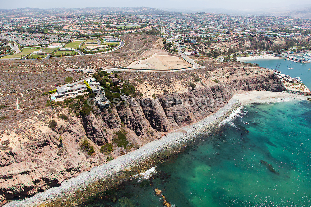 Dana Point Headlands Aerial Stock Photo