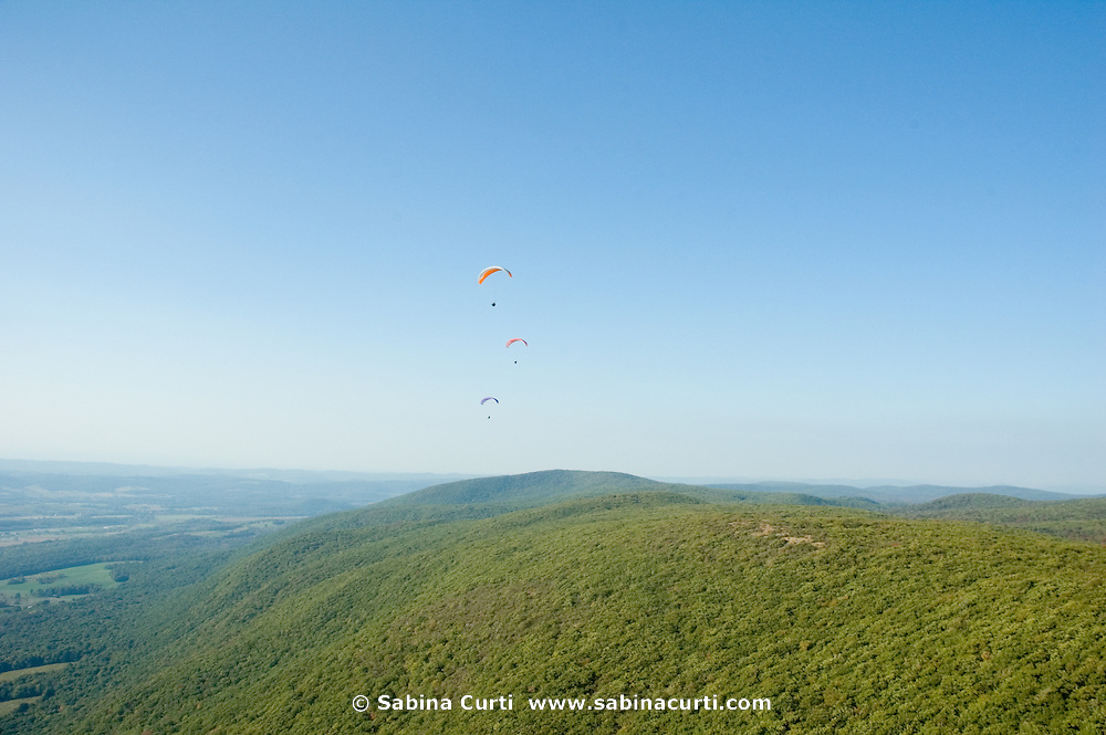 Paragliding over the Taconic Range in Boston Corners, NY.