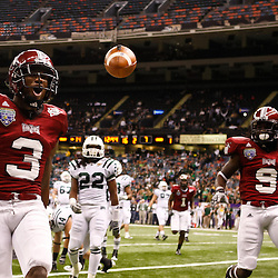 December 18, 2010; New Orleans, LA, USA; Troy Trojans wide receiver Jerrel Jernigan (3) celebrates following a touchdown against the Ohio Bobcats during the first half of the 2010 New Orleans Bowl at the Louisiana Superdome.  Mandatory Credit: Derick E. Hingle