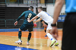 Marcelo Padilha Goncalves of Italy and Matej Fidersek of Slovenia during futsal friendly match between National teams of Slovenia and Italy, on December 3, 2019 in Maribor, Slovenia. Photo by Milos Vujinovic / Sportida