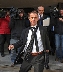 Michael Le Vell (Coronation Street's Kevin Webster) leaves Manchester Crown Court after facing sex charges, Manchester, UK, March 21, 2013. Photo by i-Images..