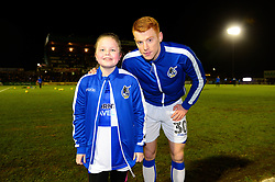 Mascot with Rory Gaffney of Bristol Rovers - Mandatory by-line: Dougie Allward/JMP - 13/02/2018 - FOOTBALL - Memorial Stadium - Bristol, England - Bristol Rovers v Rochdale - Sky Bet League One