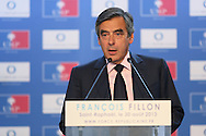 "SAINT RAPHAEL, FRANCE - AUGUST 30:  Former Prime Minister Francois Fillon hold a meeting for ""Force Republicaine"" on August 30, 2013 in Saint Raphael, France.  (Photo by Tony Barson/Getty Images)"