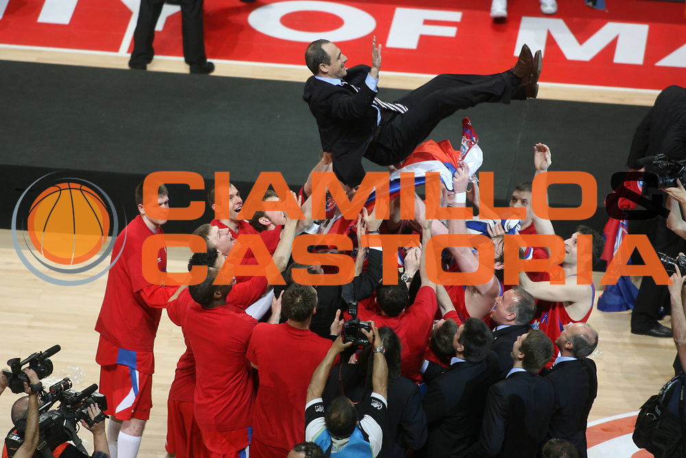 DESCRIZIONE : Madrid Eurolega 2007-08 Final Four Finale Maccabi Tel Aviv Cska Mosca<br /> GIOCATORE : Ettore Messina<br /> SQUADRA : Cska Mosca<br /> EVENTO : Eurolega 2007-2008 <br /> GARA : Maccabi Tel Aviv Cska Mosca<br /> DATA : 04/05/2008 <br /> CATEGORIA : Esultanza<br /> SPORT : Pallacanestro <br /> AUTORE : Agenzia Ciamillo-Castoria/G.Ciamillo<br /> Galleria : Eurolega 2007-2008 <br /> Fotonotizia : Madrid Eurolega 2007-2008 Final Four Finale Maccabi Tel Aviv Cska Mosca <br /> Predefinita :