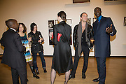 HASSAN KIMBUGWE; SOPHIE CALLE; SUE WEBSTER; MARIE AGNES-GILLOT; JUDE LAW; OSWALD BOATENG. Mythologies. Haunch of venison. 6 Burlington Gardens. London. 10 March 2009 *** Local Caption *** -DO NOT ARCHIVE-© Copyright Photograph by Dafydd Jones. 248 Clapham Rd. London SW9 0PZ. Tel 0207 820 0771. www.dafjones.com.<br /> HASSAN KIMBUGWE; SOPHIE CALLE; SUE WEBSTER; MARIE AGNES-GILLOT; JUDE LAW; OSWALD BOATENG. Mythologies. Haunch of venison. 6 Burlington Gardens. London. 10 March 2009