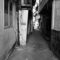 Residential alleyway in Ho Chi Minh City, Vietnam