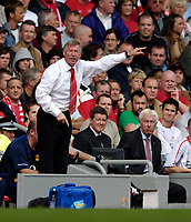 Photo: Jed Wee.<br /> Liverpool v Manchester United. The Barlcays Premiership. 18/09/2005.<br /> <br /> Manchester United manager Sir Alex Ferguson.