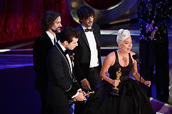 Andrew Wyatt, Mark Ronson, Anthony Rossomando, and Lady Gaga accept the Oscar® for achievement in music written for motion pictures (original song) during the live ABC Telecast of The 91st Oscars® at the Dolby® Theatre in Hollywood, CA on Sunday, February 24, 2019.