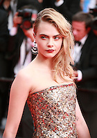 Cara Delevingne at The Search gala screening red carpet at the 67th Cannes Film Festival France. Tuesday 20th May 2014 in Cannes Film Festival, France.