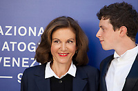 Anne Fontaine and Finnegan Oldfield at the premiere of the film Marvin at the 74th Venice Film Festival, Sala Darsena on Sunday 3 September 2017, Venice Lido, Italy.