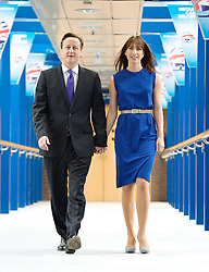 Rt Hon David Cameron MP and Samantha Cameron walking to the Conference centre prior to his leaders' speech during the Conservative Party Conference, ICC, Birmingham, Great Britain, October 10, 2012. Photo by Elliott Franks / i-Images.