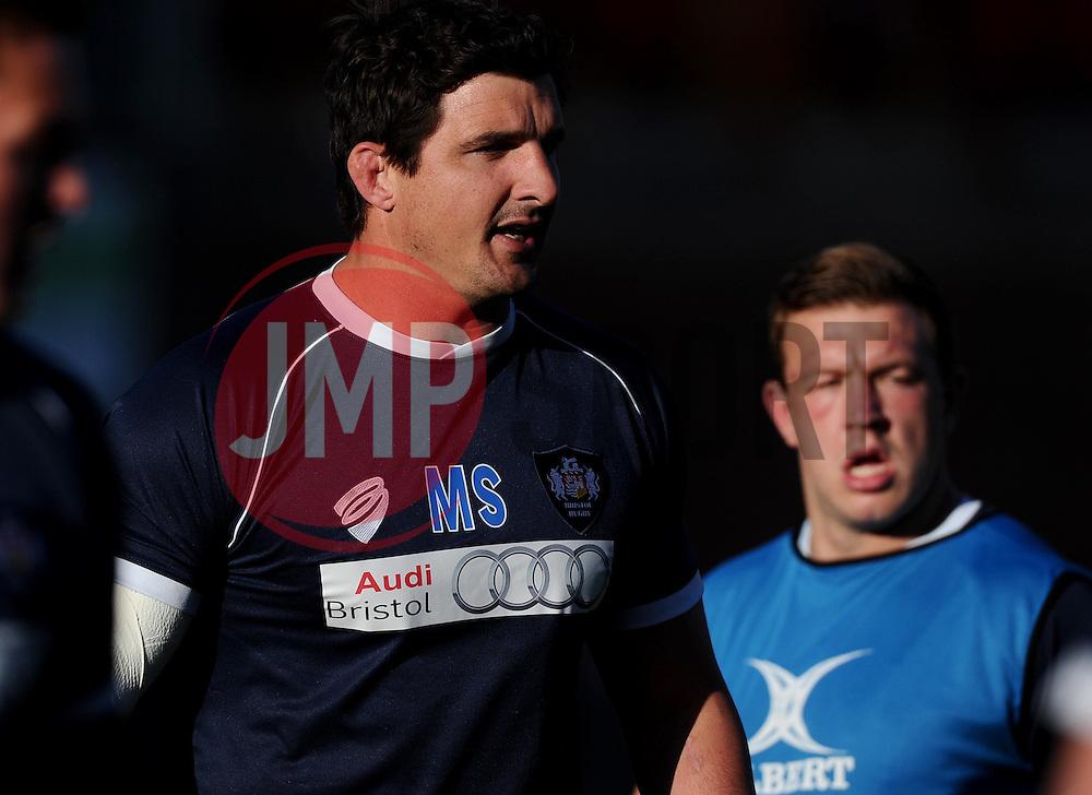 Bristol Lock Mark Sorenson  - Photo mandatory by-line: Joe Meredith/JMP - Mobile: 07966 386802 - 20/05/2015 - SPORT - Rugby - Bristol - Ashton Gate - Bristol Rugby v Worcester Warriors - Greene King IPA Championship - Play-Off Final