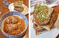 Chef Geoffrey Zakarian making Spagetti and Meatballs
