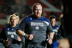 Bristol Rugby Hooker Ross McMillan (capt) leads his side - Mandatory byline: Rogan Thomson/JMP - 11/12/2015 - RUGBY UNION - Ashton Gate Stadium - Bristol, England - Bristol Rugby v Bedford Blues - B&I Cup.