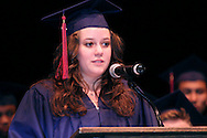 Audrey Lane speaks during the Miami Valley School 39th annual commencement at the Victoria Theatre in downtown Dayton, June 7, 2012.
