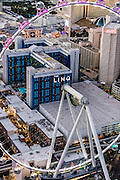 Aerial view of Linq Hotel the Strip, Las Vegas, Nevada, USA
