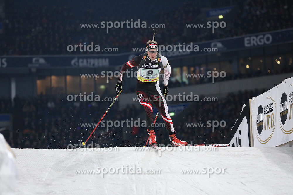28.12.2013, Veltins Arena, Gelsenkirchen, GER, IBU Biathlon, Biathlon World Team Challenge 2013, im Bild Dominik Landertinger (Oesterreich / Austria) // during the IBU Biathlon World Team Challenge 2013 at the Veltins Arena in Gelsenkirchen, Germany on 2013/12/28. EXPA Pictures &copy; 2013, PhotoCredit: EXPA/ Eibner-Pressefoto/ Schueler<br /> <br /> *****ATTENTION - OUT of GER*****