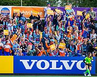 AMSTELVEEN - Volvo na een goal    tijdens de halve finale  Nederland-Duitsland (2-1) van de Pro League hockeywedstrijd dames. COPYRIGHT KOEN SUYK