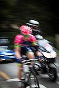 Matej Mohoric of the Lampre team climbs Montjuic, Barcelona, on the last stage of the Volta Catalunya 2016 cycling race. The leader, Nairo Quintana, successfully defends his jersey from Alberto Contador and Dan Martin.<br /> <br /> Matej Mohorič del equipo Lampre sube Montjuic, Barcelona, en la última etapa de la carrera ciclista Volta Catalunya 2016. El líder, Nairo Quintana, defiende con éxito su maillot de Alberto Contador y Dan Martin.<br /> <br /> Matej Mohorič de l'equip Lampre puja Montjuïc, Barcelona, en l'última etapa de la cursa ciclista Volta Catalunya 2016. El líder, Nairo Quintana, defensa amb èxit el seu mallot d'Alberto Contador i Dan Martin.