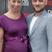 NLD/Amsterdam/20120617 - Premiere Het Geheugen van Water, zwangere Plien van Bennekom en partner Jeroen Wassmer