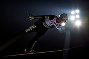 Poland, Wisla Malinka - 2017 November 18: Robert Johansson from Norway soars through the air during FIS Ski Jumping World Cup Wisla 2017/2018 - Day 2 at jumping hill of Adam Malysz on November 18, 2017 in Wisla Malinka, Poland.<br /> <br /> Mandatory credit:<br /> Photo by &copy; Adam Nurkiewicz<br /> <br /> Adam Nurkiewicz declares that he has no rights to the image of people at the photographs of his authorship.<br /> <br /> Picture also available in RAW (NEF) or TIFF format on special request.<br /> <br /> Any editorial, commercial or promotional use requires written permission from the author of image.