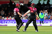Somerset Win - James Hildreth of Somerset and George Bartlett of Somerset celebrate winning the Royal London 1 Day Cup Final match between Somerset County Cricket Club and Hampshire County Cricket Club at Lord's Cricket Ground, St John's Wood, United Kingdom on 25 May 2019.