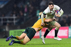 November 18, 2017 - London, England, United Kingdom - England's Elliot Daly is tackled during Old Mutual Wealth Series between England against Argentina at Twickenham stadium , London on 11 Nov 2017  (Credit Image: © Kieran Galvin/NurPhoto via ZUMA Press)