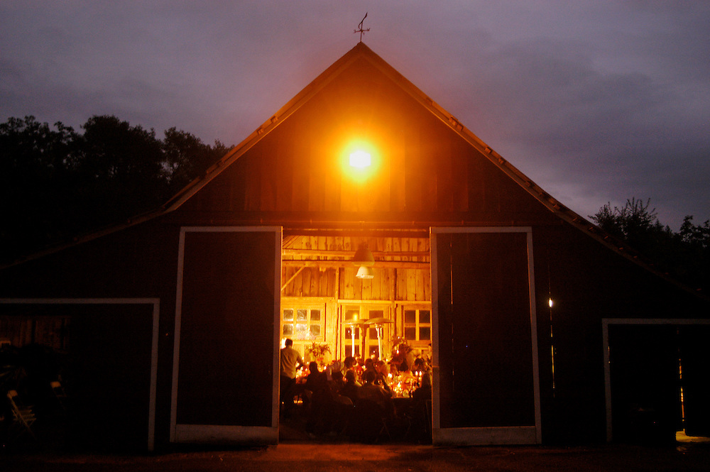 A peak into the emerging Slow Food and local food movement in the Sierra Nevada foothills, this barn near Angels Camp served as a venue for the region's first Slow Food harvest dinner.
