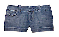 American Eagle Outfitters denim short shorts on white background