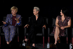 LOS ANGELES - AUGUST 9: (L-R) Eryn Krueger Mekash, Lou Eyrich and Alexis Martin Woodall onstage during 'Women of American Horror Story' panel during the FX portion of the 2017 Summer TCA press tour at the Zanuck Theatre on the Fox Studio Lot on August 9, 2017 in Los Angeles, California. (Photo by Frank Micelotta/FX/PictureGroup) *** Please Use Credit from Credit Field ***