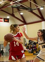 St Paul's School girls varsity basketball with Andover.. ©2019 Karen Bobotas Photographer
