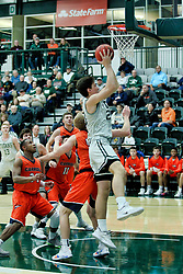 BLOOMINGTON, IL - December 15: Matthew Leritz during a college basketball game between the IWU Titans  and the Carroll Pioneers on December 15 2018 at Shirk Center in Bloomington, IL. (Photo by Alan Look)