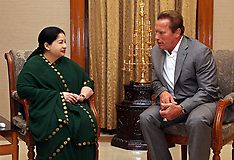 SEP 15 2014 Arnold Schwarzenegger meets with Tamilnadu Chief Minister