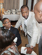 l to r: Reggie Canal and Jeff Friday at The ABFF Luncheon Hosted by HSBC and Rush Philanthropic Arts held at The Delano in Miami Beach on June 27, 2009..The American Black Film Festival is an industry retreat and competitve marketplace for films and by and about people of color.