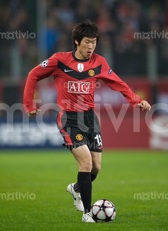 Fussball Uefa Champions League VFL Wolfsburg - Manchester United FC Ji-Sung PARK (Manchester).
