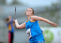 21 Aug 2016: Keela Dunne, from Wicklow. Girls  U14 Javelin.  2016 Community Games National Festival 2016.  Athlone Institute of Technology, Athlone, Co. Westmeath. Picture: Caroline Quinn