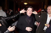 Alex Power, Nathan Lane and Sean Folley, First night for 'The Producers' at the Theatre Royal, Drury Lane and afterwards at the Waldorf Astoria. ONE TIME USE ONLY - DO NOT ARCHIVE  © Copyright Photograph by Dafydd Jones 66 Stockwell Park Rd. London SW9 0DA Tel 020 7733 0108 www.dafjones.com