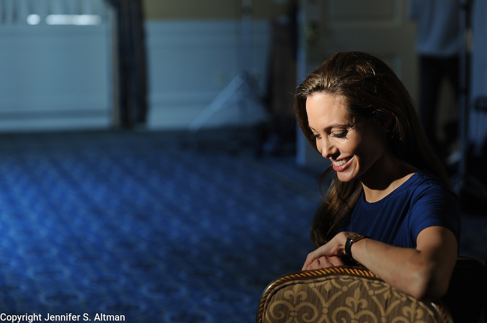 "MANHATTAN, NY - DECEMBER 3, 2011: Director and actress Angelina Jolie is seen at the Waldorf Astoria Hotel in Manhattan, NY. Jolie wrote and directed the movie, ""In The Land of Blood and Honey."" . 12/3/2011 (Photo by ©Jennifer S. Altman/For The Washington Post)"