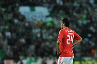 20120409: LISBON, PORTUGAL -Portuguese Liga Zon Sagres 2011/2012 - Sporting CP vs SL Benfica.<br /> In picture: Benfica's Ezequiel Garay, from Argentine, reacts.<br /> PHOTO: Alvaro Isidoro/CITYFILES