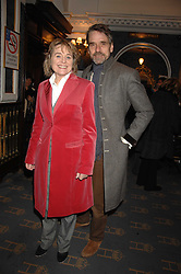 JEREMY IRONS and SINEAD CUSACK at a gala evening preview of Edward Albee's The Lady from Dubuque in aid of Masterclass at The Theatre Royal, Haymarket, London on 19th March 2007<br /><br />NON EXCLUSIVE - WORLD RIGHTS